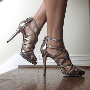 Vince Camuto Steel Metallic Leather Sandals